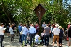Am Wasserturm hatten sich knapp 50 Menschen versammelt.