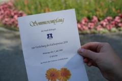 Die Verleihung fand im Rahmen des Sommerempfangs im Park des Unteren Schlößchens statt.