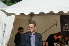 Vorsitzender Josef Bühler dankte der Stadt für den Preis und den Kolpingsmitgliedern für ihren jahrelangen Einsatz,