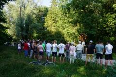 Viele sind kurz vor Beginn der Sommerferien zur Andacht am Kolpingkreuz gekommen.