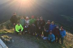 Ein traumhafter Sonnenaufgang erwartete die Bergsteiger.