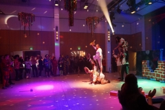 """Faschingsball 2019: Auftritt des Männerballetts """"Die Pfundigen""""."""