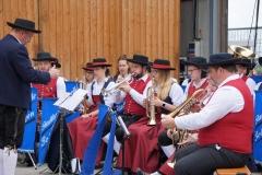 Musikalisch begleitete die Stadtkapelle Bobingen.