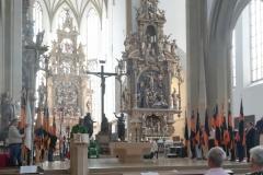 Feierlicher Jubiläums-Festgottesdienst in der Ulrichsbasilika mit Landespräses Christoph Huber.