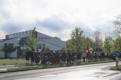 Maibaum 2019: Feierlicher Einzug zum Rathausplatz mit der Stadtkapelle, den Kolpingbannern und Tänzergruppen