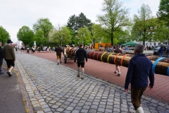 Maibaum 2019: Ankunft am Rathausplatz