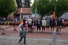 Maibaum 2019: Kolping-Fahne und -Banner