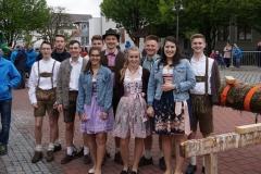 Maibaum 2019: Ein Teil unserer Tänzergruppen