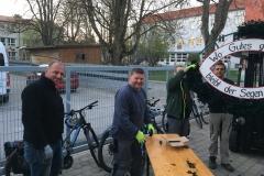 Maibaum 2019: Maibaumkranz binden