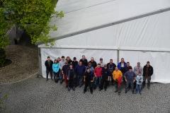 Maibaum 2019: Helferbild vom Zeltaufbau