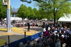 Maifest 2019: Vorsitzender Josef Bühler begrüßt die rund 1.000 Besucher