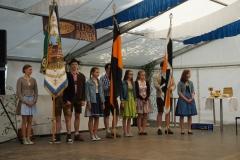 Maifest 2019: Kolping-Fahne und Banner