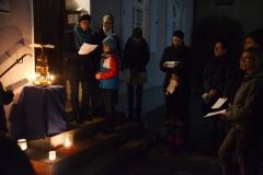 Rund 30 Menschen besuchten die erste Station des Advents.